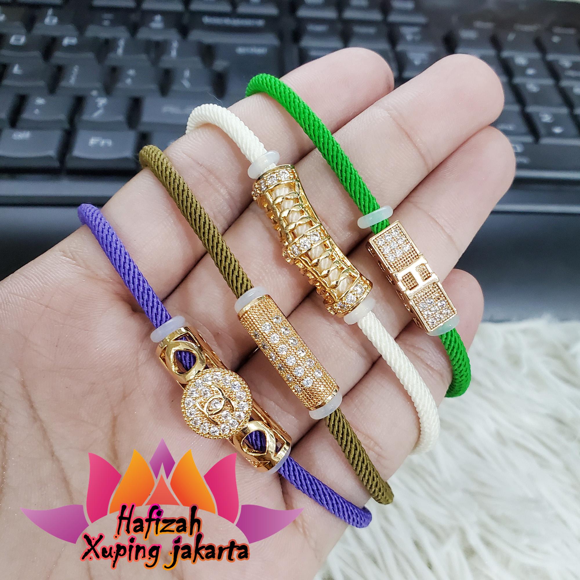 gelang xuping tali pandora motif brtabun perhiasan xuping