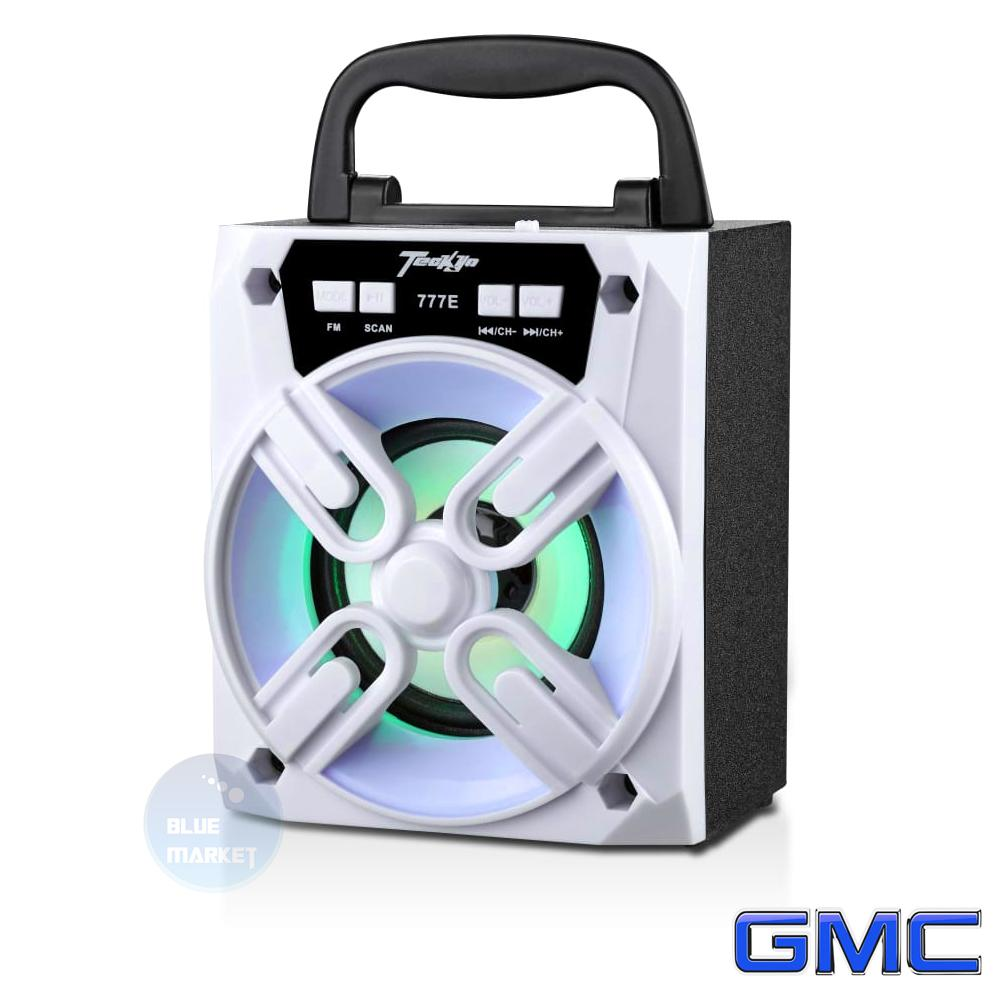 GMC Speaker Multimedia Portable Teckyo 777 E Bluetooth USB Micro SD FM Radio 10 Watt RMS