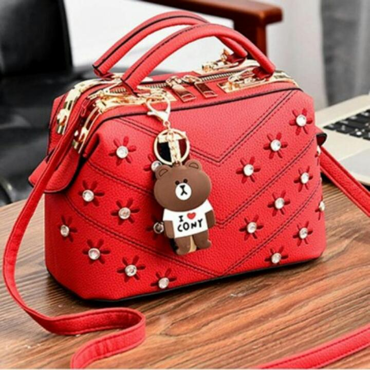 1ST-6381 (Q5602) Shoulder Bag Import + Free Gantungan Tas Lucu Korean Style