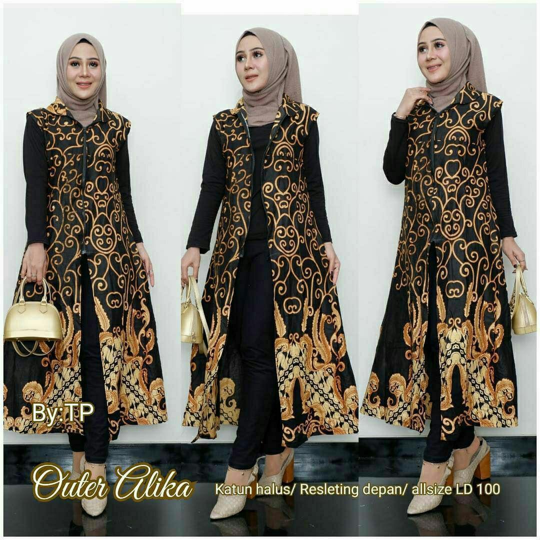 Model Rompi Batik Wanita Modern Model Batik 2019
