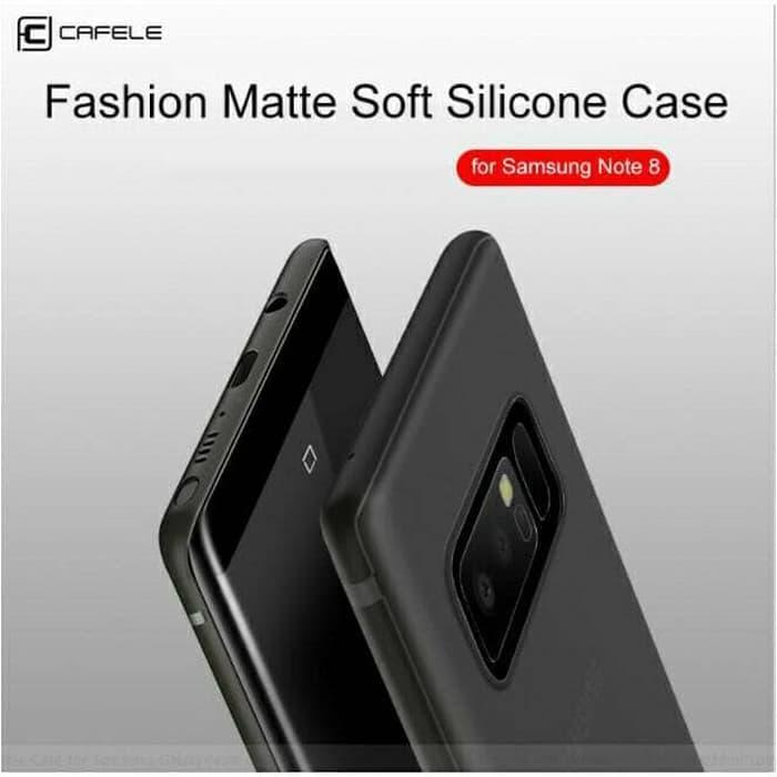 Detail Gambar Soft Case CAFELE ORIGINAL Samsung Note 8 Matte TPU Ultrathin tipis - Hitam Terbaru