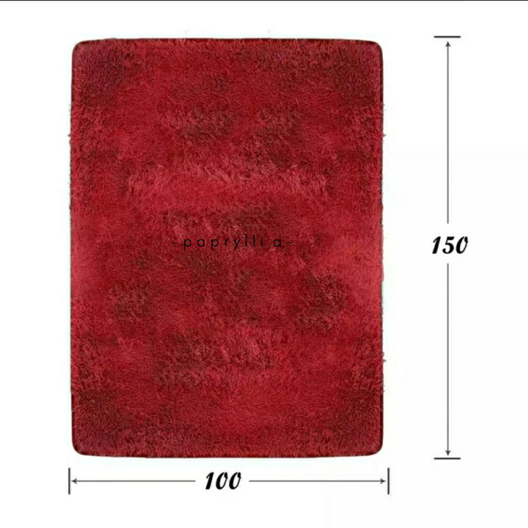 papryllia – kain bulu rasfur lembut untuk background alas foto shop / alas meja / bahan untuk karpet ukuran 150x100cm ( maroon )