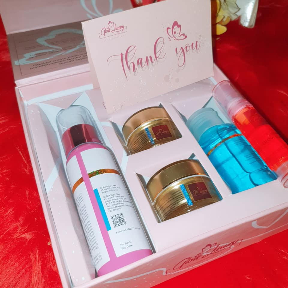 bpom paket cream glow luxury flek original /crem wajah no box