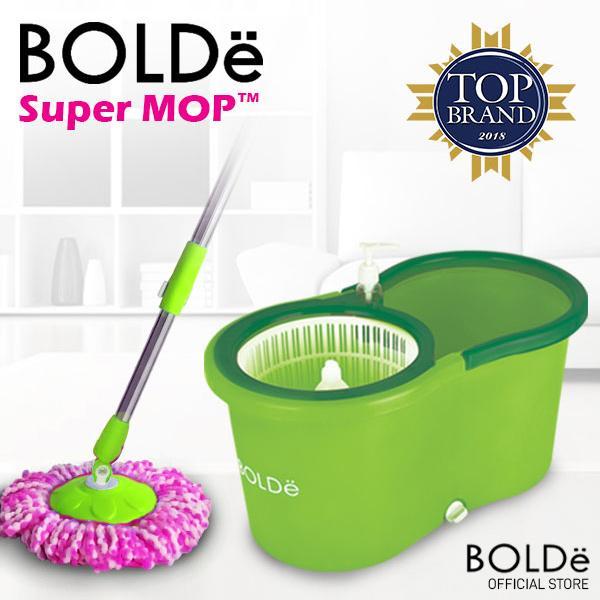 Bolde Super Mop Original Alat Pel Lantai Otomatis M-99X+ Plus Botol Sabun dan Extra