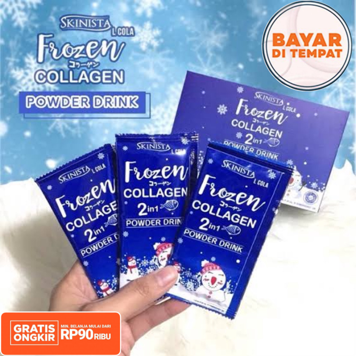 frozen collagen 2in1 power drink skinista bpom – isi 1pcs / collagen pemutih kulit ba/ pemutih wajah glowing / pemutih bapermanen / pemutih wajah / minuman