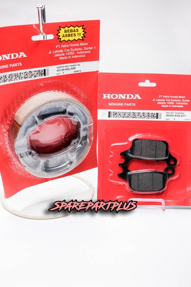 paket hemat! paket service rem depan belakang honda vario 125/150 led gratis discpad!