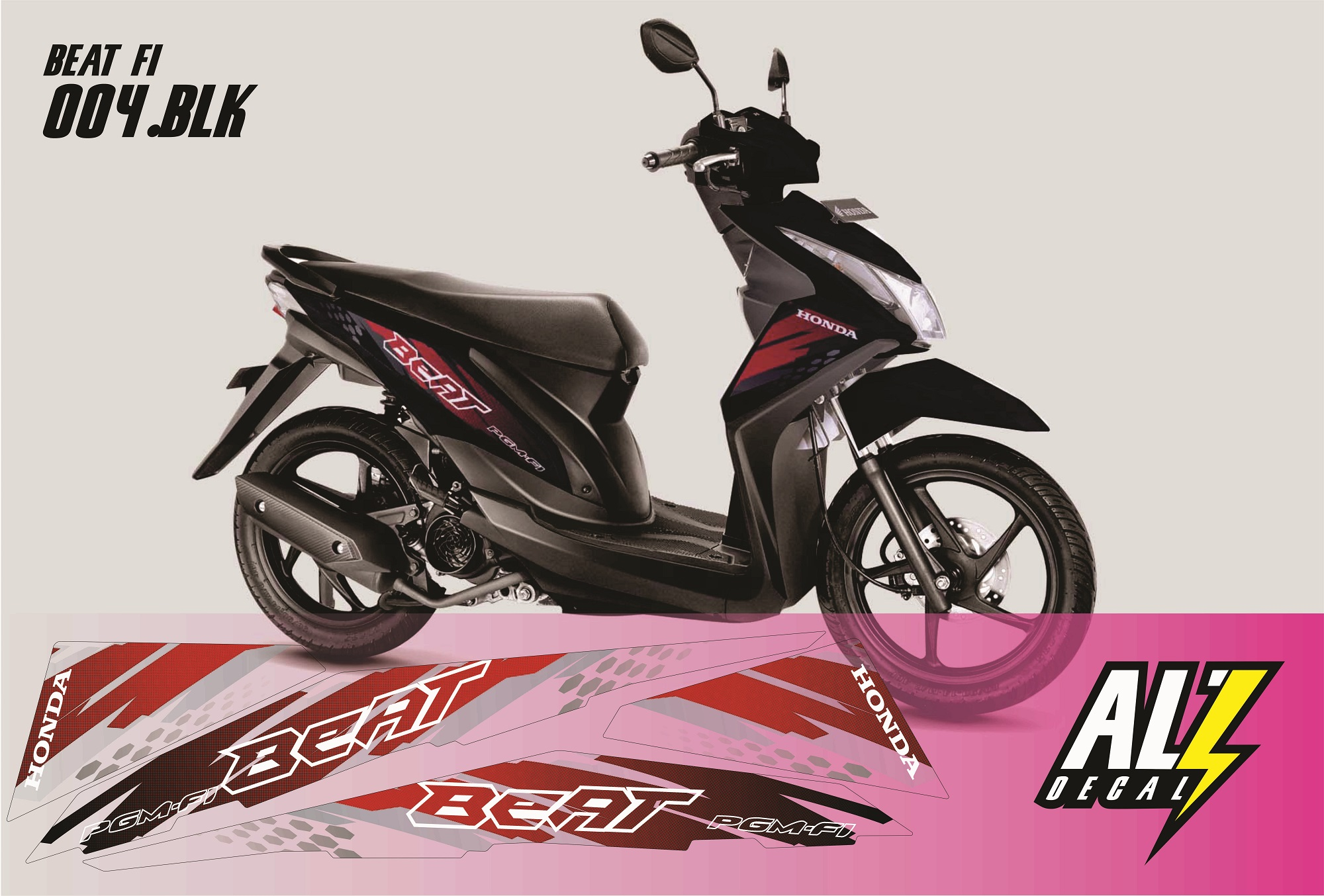 Striping Motor/Sticker Motor Beat FI
