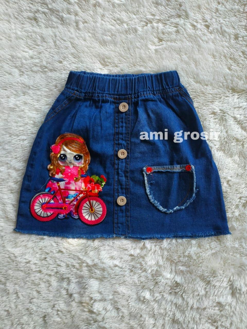rok denim led lol anak ( 1 sampai 5 tahun) / rok anak perempuan