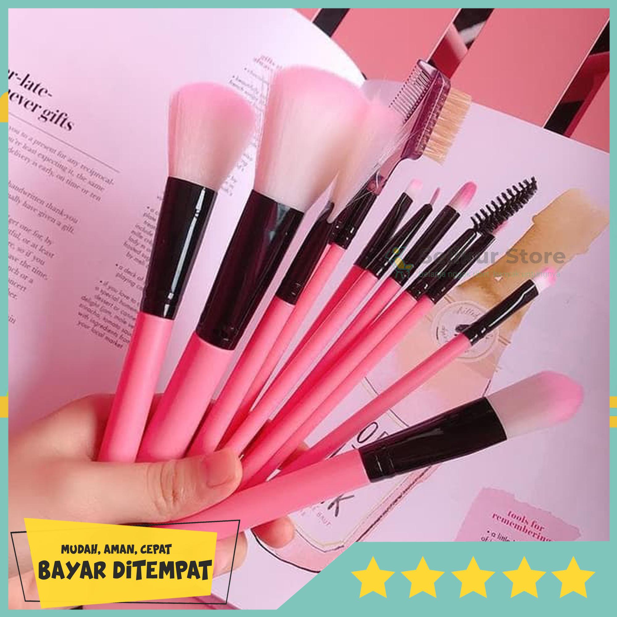 brush kuas make up 1 set   wardah kosmetik koas masker pria wanita / 10 in 1 make up brush / kuas make up isi 10 pcs