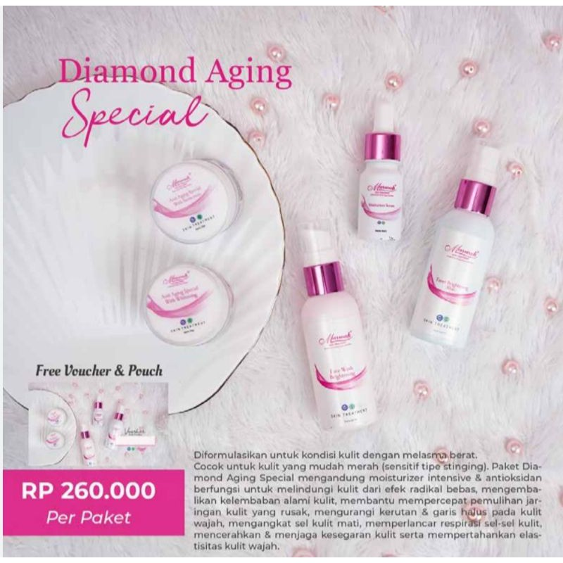 [new] marwah skin care paket aa spesial / marwah anti aging spesial / marwah skincare diamond aa spesial menghilangkan flek hitam flek bandel + serum moisturizer