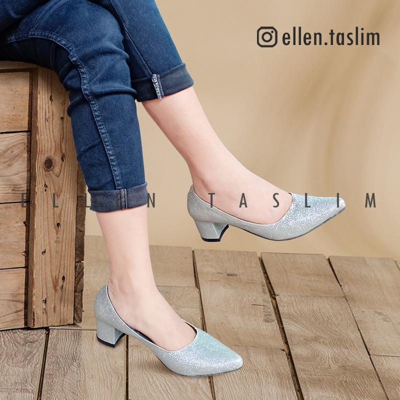 Detail Gambar Ellen Taslim - Chunky Heels SHELLY - Sepatu Kerja - Sepatu  Pesta - Sepatu 1d0ed98e1d