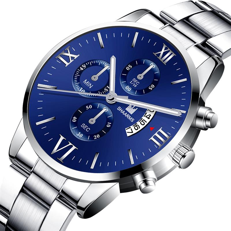 sk  shop jx2-cod- jam tangan pria tahan air anti karat mewah full quartz casual bahan stainless stell/jam tangan fashion pria new arival /jam tangan style/jam tangan keren