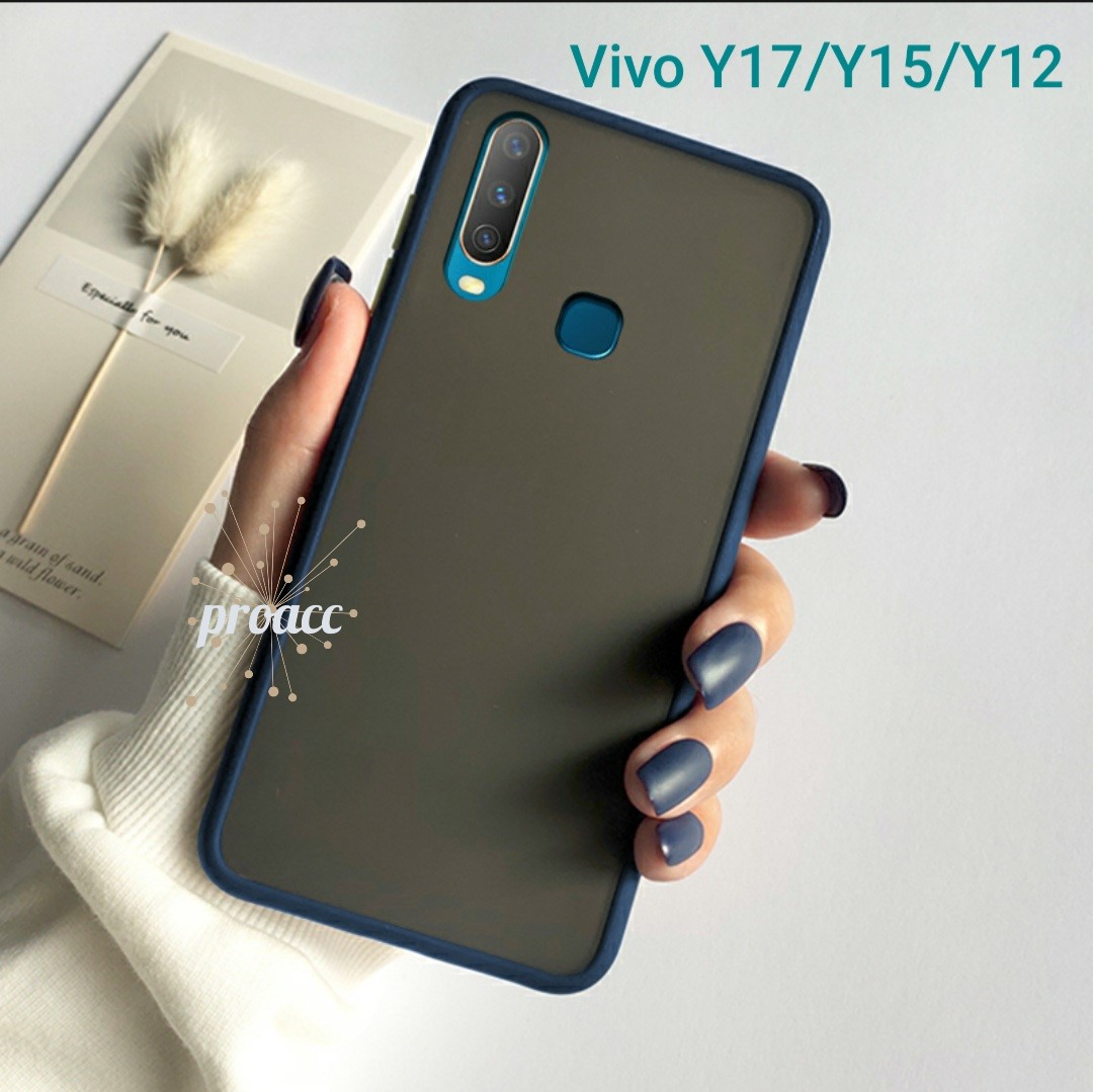 Case Matte VIVO Y17/Y15/Y12 Premium cover High Quality Bumper Aero Back Casing bumper softcase