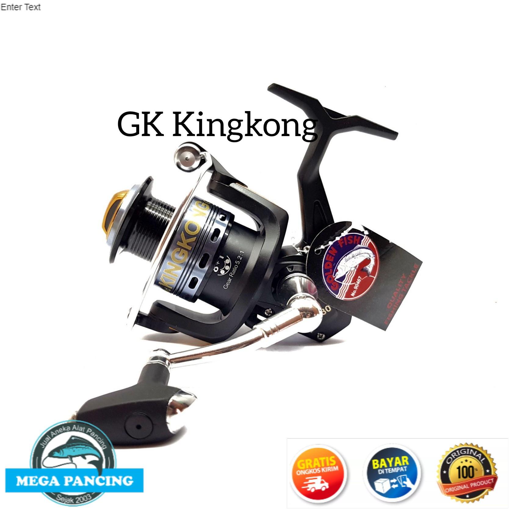 reel pancing golden fish kingkong gk 30