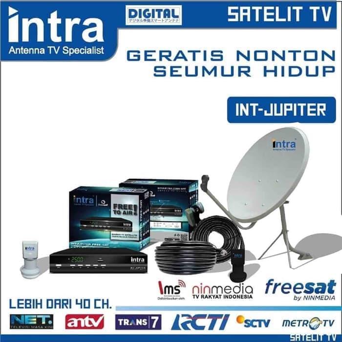 antena parabola ninmedia intra jupiter paket komplit model wall mount