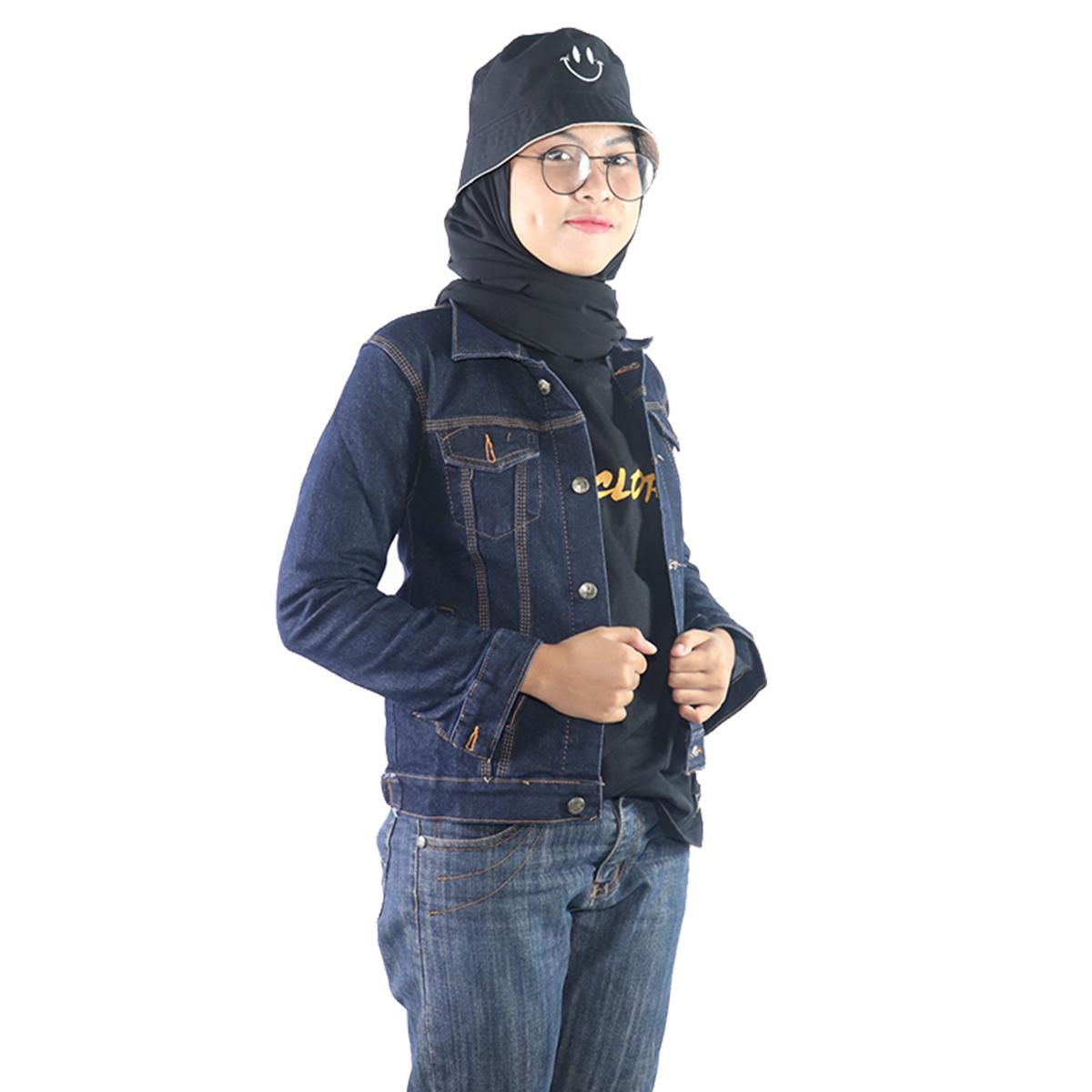 jaket denim crop wanita / jaket wanita terlaris / bisa bayar ditempat