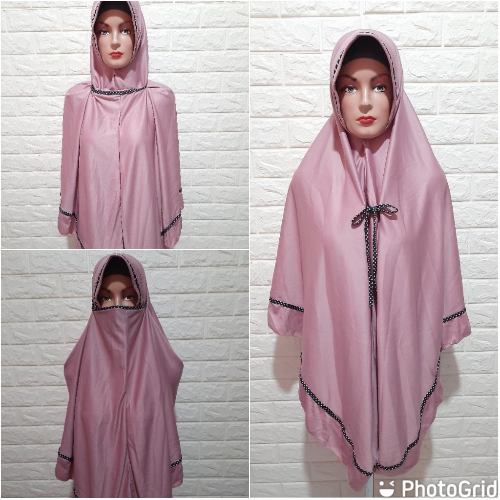 jilbab kerudung hijab instan masker jumbo 3 in 1 bahan jersey