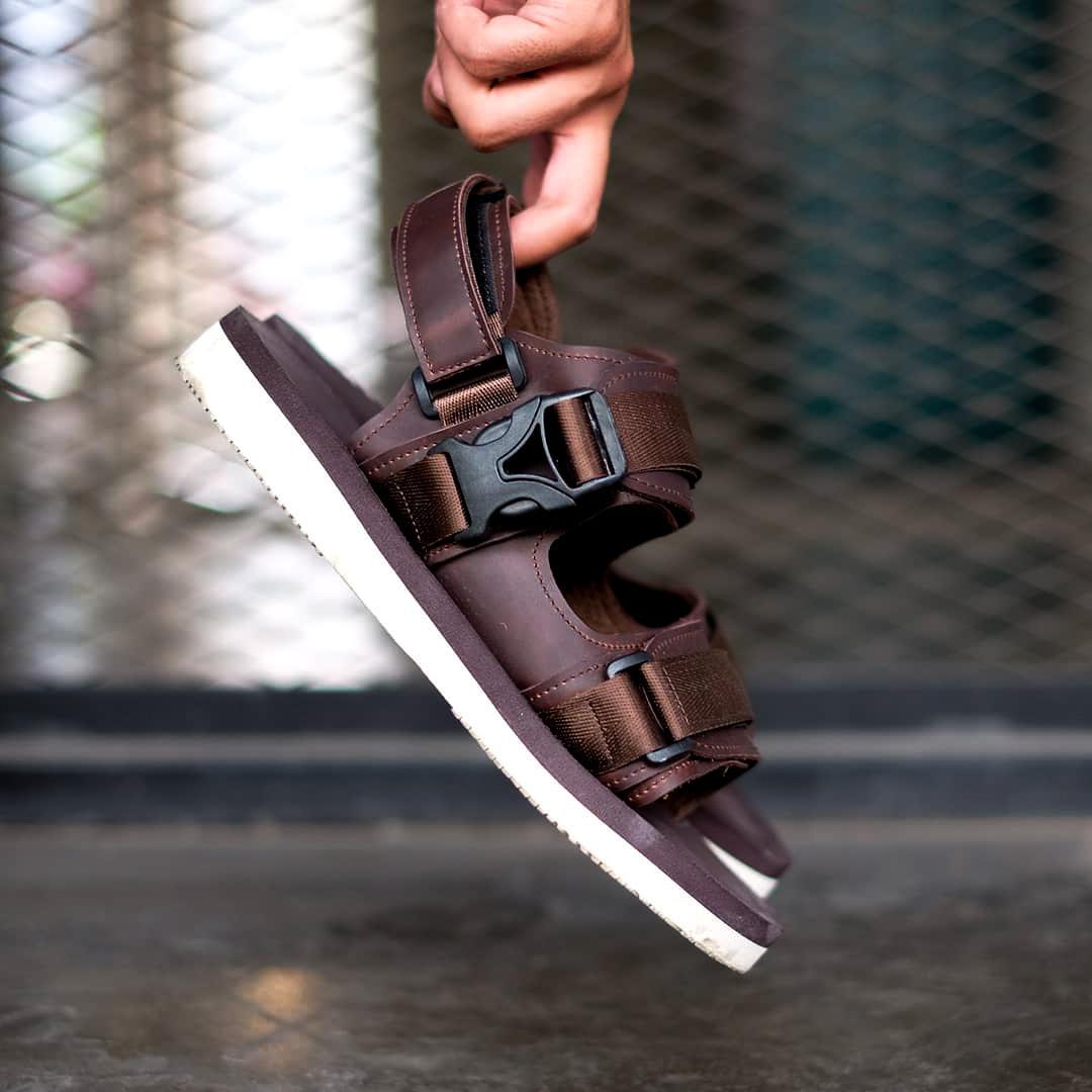 sandal santai footwolker / sandal gcasual / cutter darkbrown