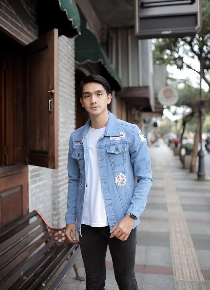 jaket jeans pria casual jaket levis pria bahan denim jaket pria distro jaket pria laki keren jaket jeans cowok  import branded fashion atasan pria 001