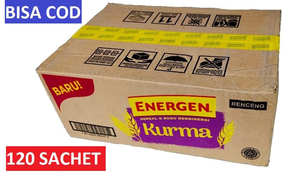 energen sereal kurma susu 1 dus karton 12 renceng 120 sachet @30gr varian