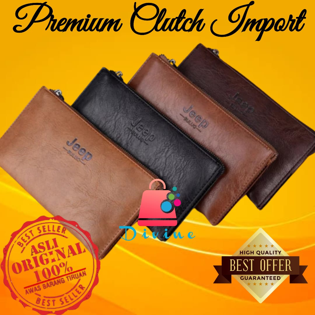 dompet kulit pria dompet import clutch jeep import