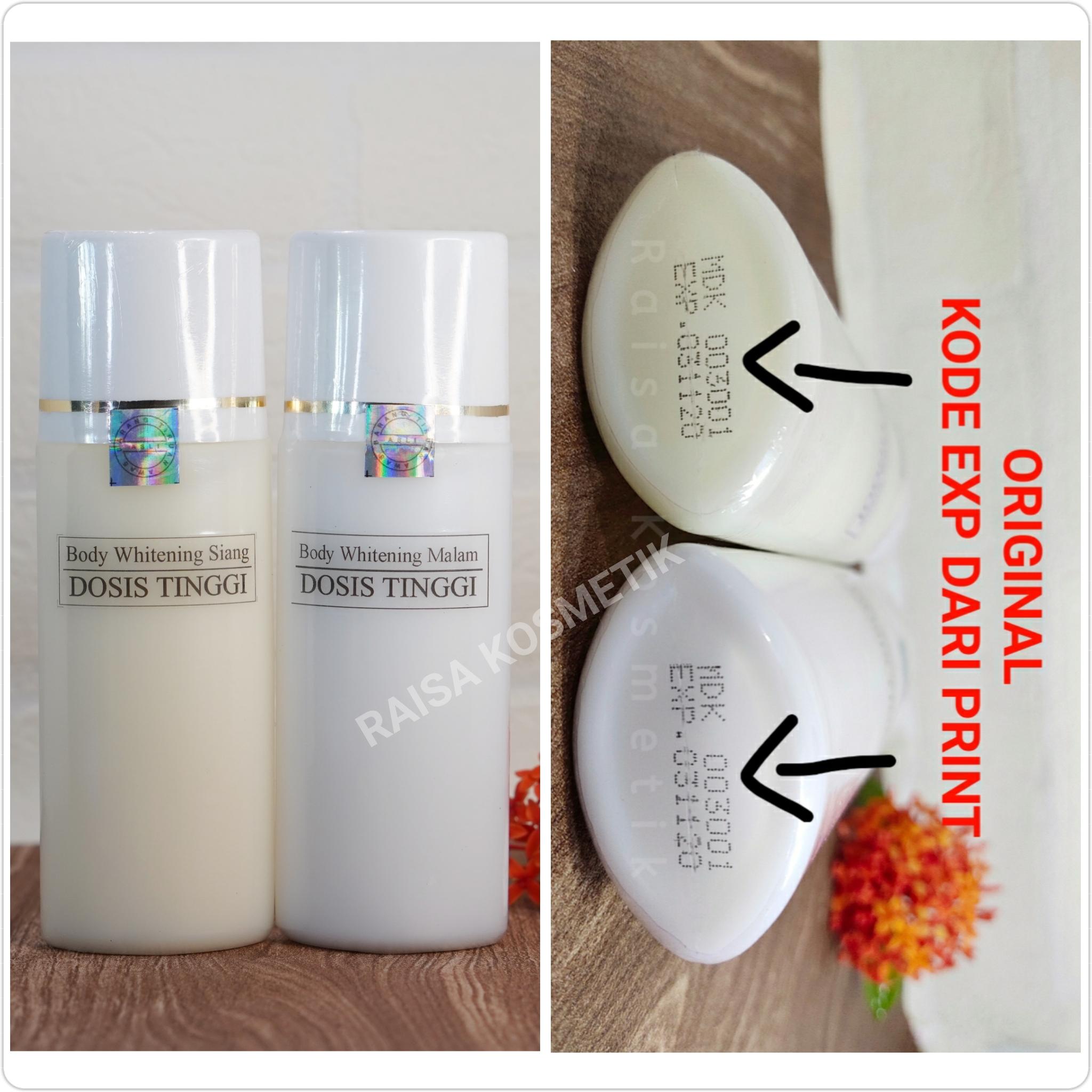 [siang & malam] hb extra whitening dosis tinggi / body whitening / body lotion / lotion / handbody / pemutih ba/ whitening