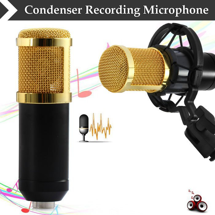 BM 800 Mikrofon Kondenser Mic Studio Vlog Microphone Youtuber Microfon Besar dengan Shock Proof Mount - BM-800 By Boss Eceran Others Premium Audio Collection