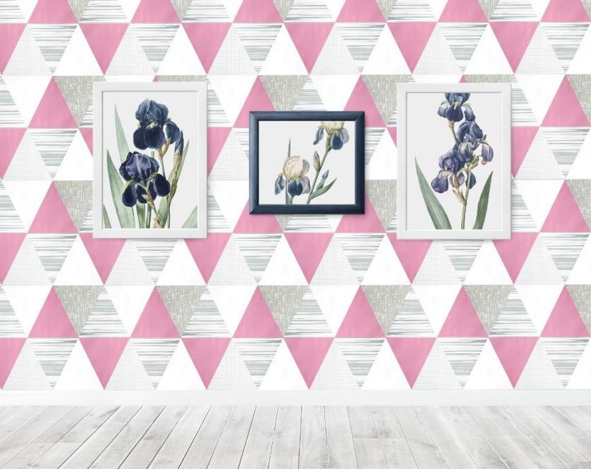 promo wallpaper dinding segitiga geometri abu biru wps765 walpaper sticker kamar tidur ruang tamu dapur rumah cafe modern minimalis  walpeper  bisa cod stiker kayu kaca plastik ada lem langsung tempel