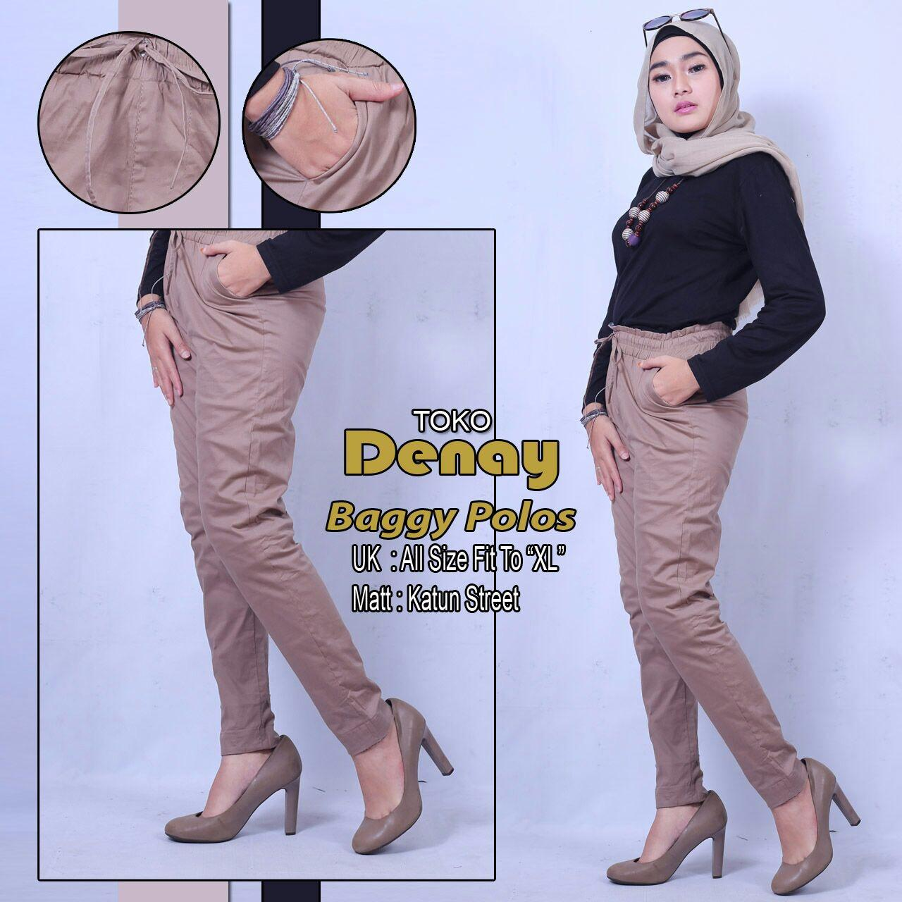 Celana Panjang Wanita Basic Premium Pants Mode Baggy Polos Cotton Strech Ori By Tokodenay