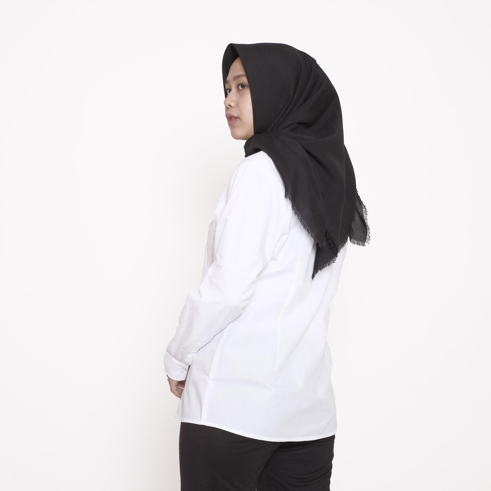 ... HaymeeStore Kemeja Putih Polos Wanita Baju Kantor Lengan Panjang Cewek Formal Atasan Casual Pakaian Kerja Cewe ...