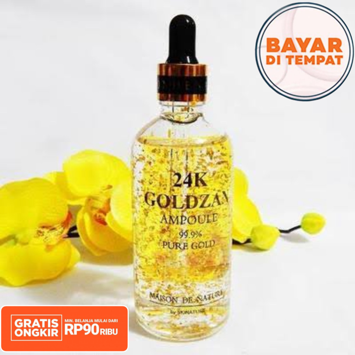 serum goldzan ampoule 24k isi 100 ml – serum wajah glowing / serum korea / serum vit c / serum wajah