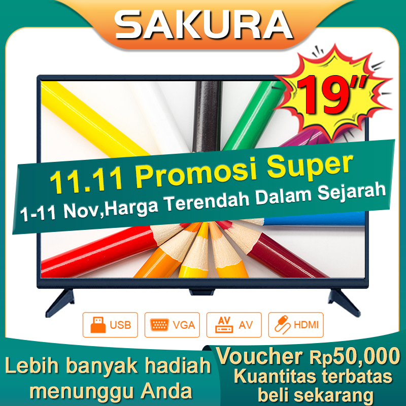 Sakura TV LED 19 inch HD Ready Televisi Murah(TCLG-SI19new)