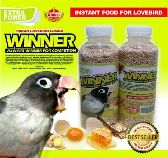 Features Pakan Burung Lovebird Kontes Lomba 250gr Moncer Dan Harga
