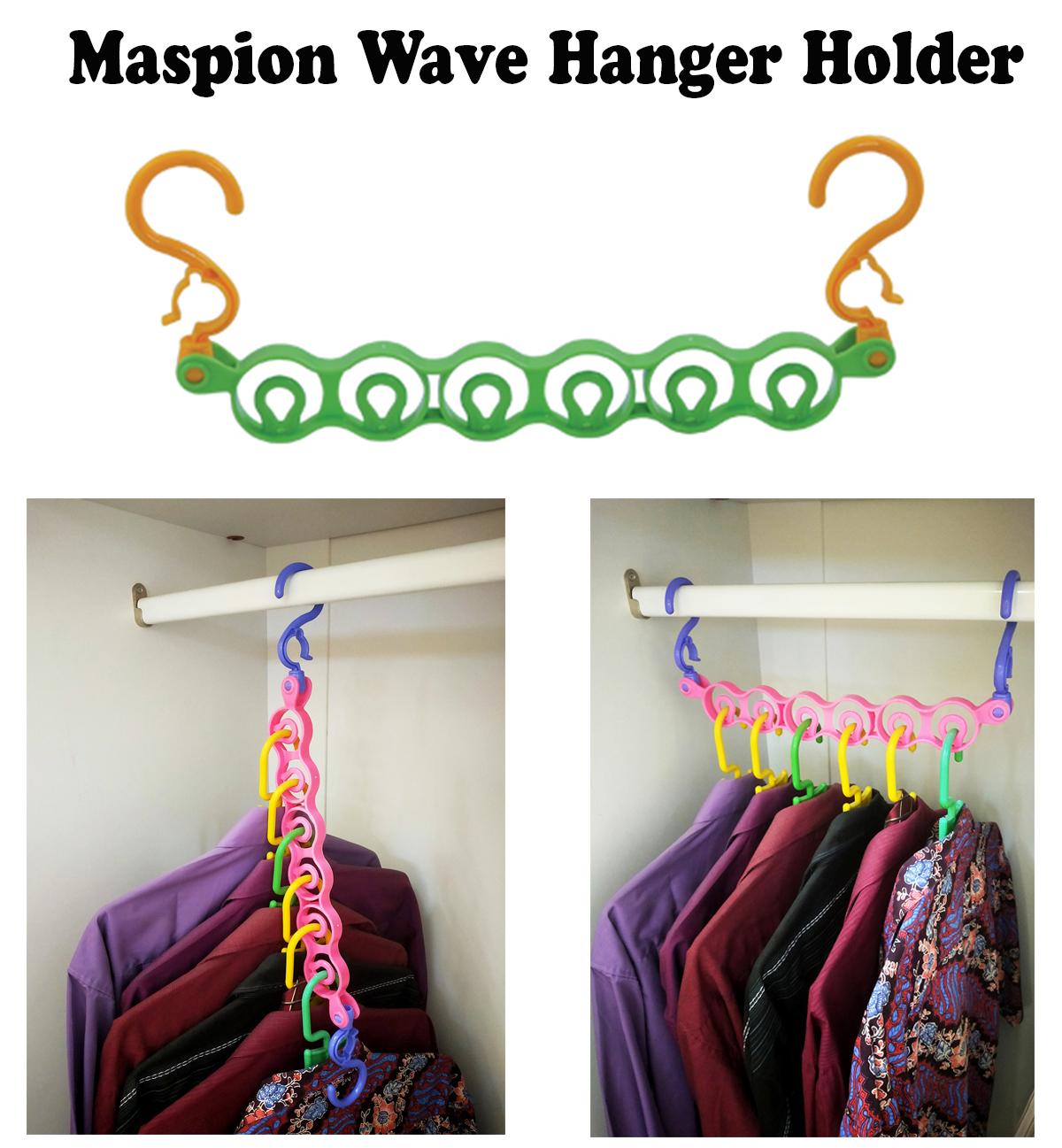 maspion magic wave hanger holder gantungan pakaian baju