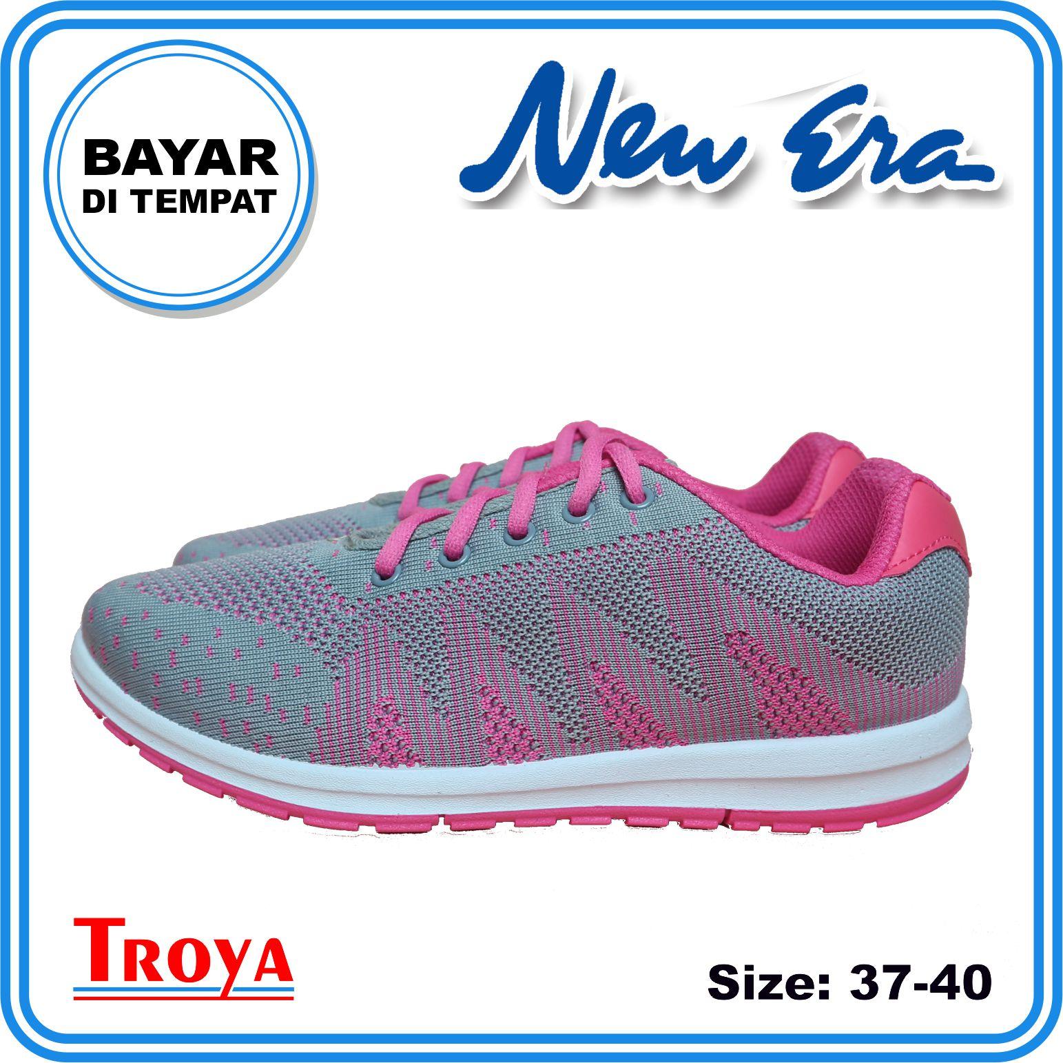 troya – new era sepatu wanita original britney abu pink / sepatu olahraga  / sepatu lari wanita shsg / sepatuwanita troyastore