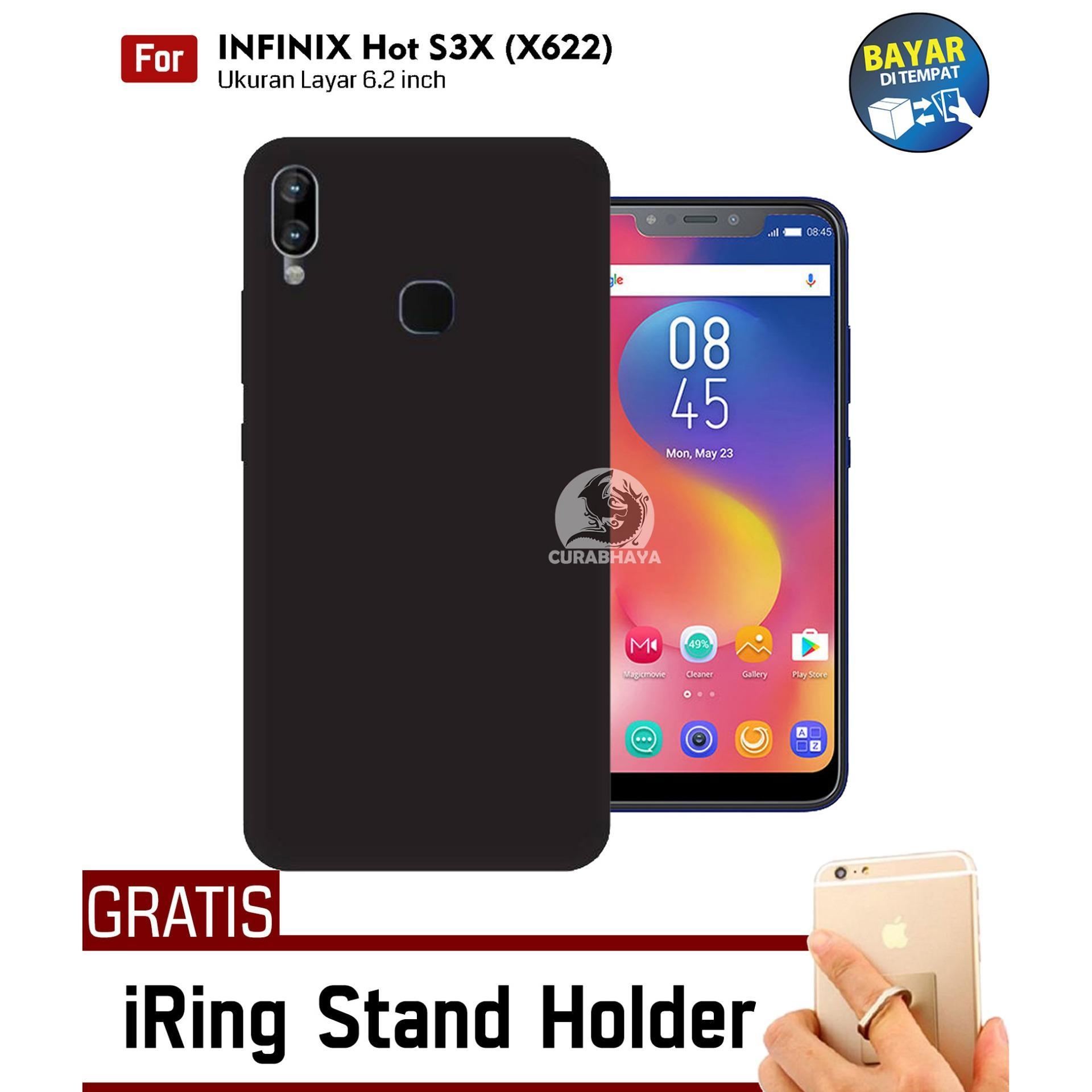 MidNight Infinix Hot S3X (X622) | Slim Case Black Matte Softcase Premium Baby Skin