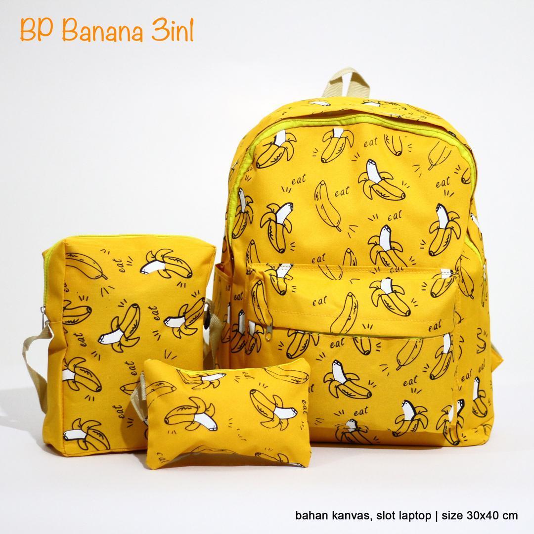 Tas selempang pria bahan kanvas impor. Source ... Vienna Linz Tas Ransel Wanita Banana 3 in 1 Set Backpack Selempang Bahu .