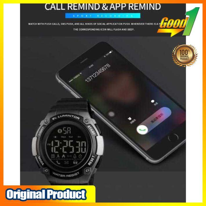 ... GO-u459 SKMEI Jam Tangan Sporty Smartwatch Bluetooth 1347 Terlaris & Terbaru - 5