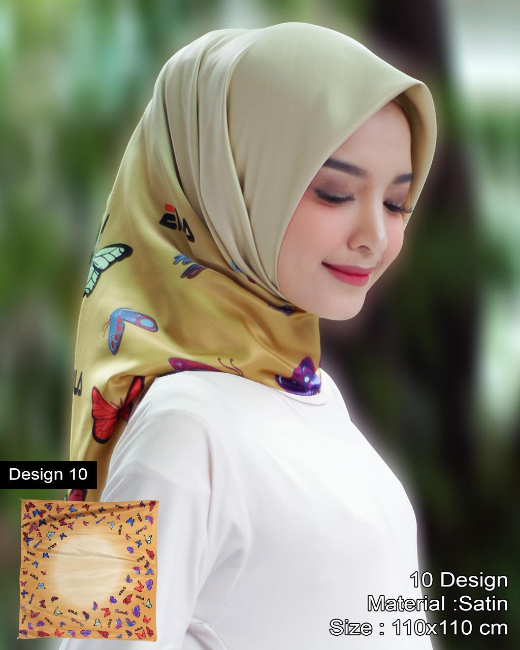 mei chen hijab satin sutra  motif design cantik