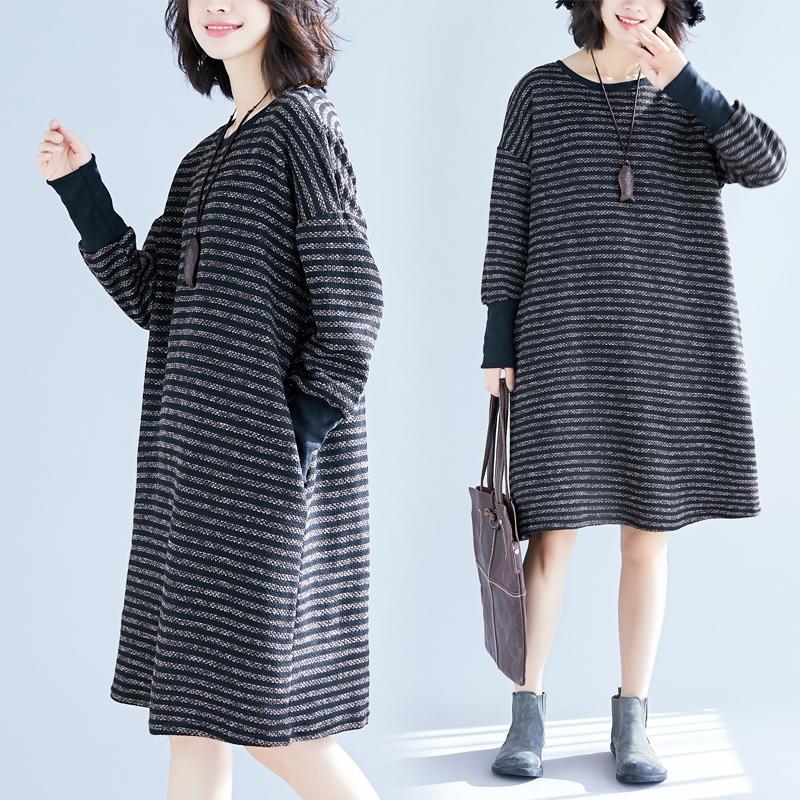 Ukuran besar baju wanita musim gugur musim dingin model baru Atasan 200 pound mm rajutan Sastra