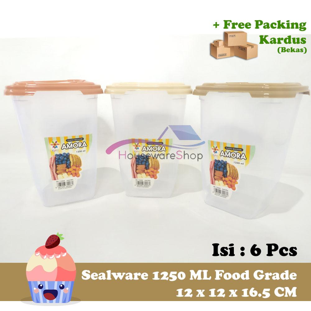 6 pcs x sealware toples segi kirei amora 1250 ml