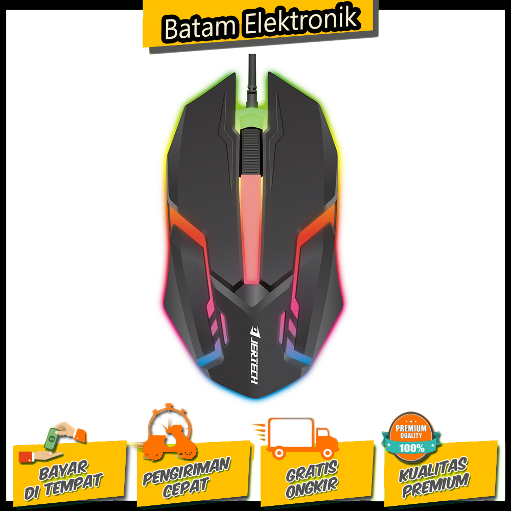 mouse wired gaming lampu rgb m200 jertech