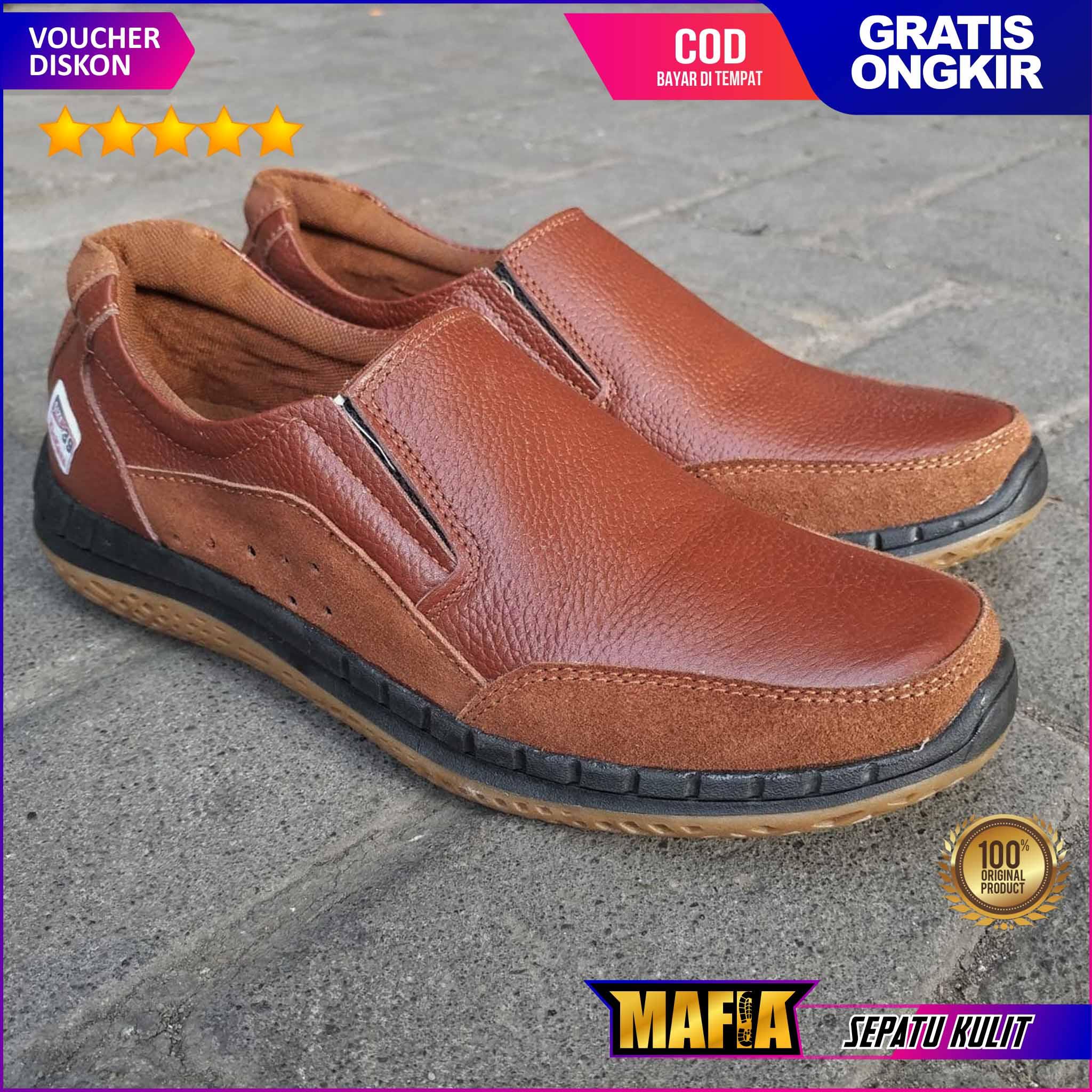 sepatu pria kulit sapi asli original cevany sepatu casual sepatu kasual sneakers kuli formal santai original cevany