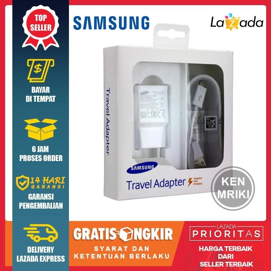 charger samsung galaxy a5 / a6 adaptive fast charging 15w compatible for samsung galaxy note 4 / note 5 / s6 / s7 – putih
