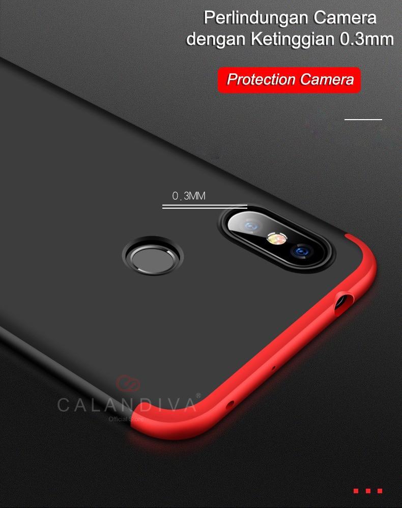 Calandiva Hard Case Xiaomi Redmi Note 6 Pro (6.26 Inch) Casing Premium Front Back 360 Degree Full Protection - 3