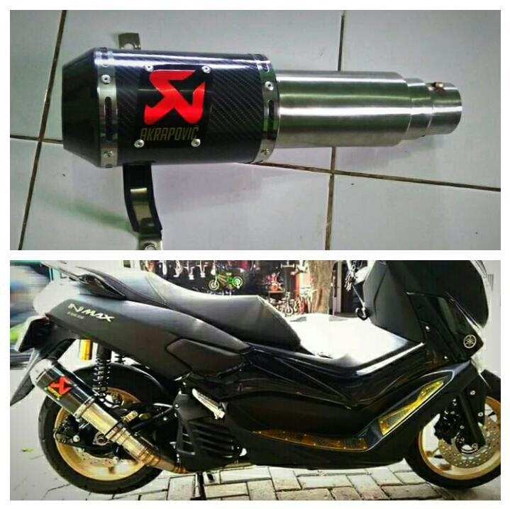 [original] knalpot racing cs pro for aerox. nmax. beat. vario. pcx. genio. adv. dll