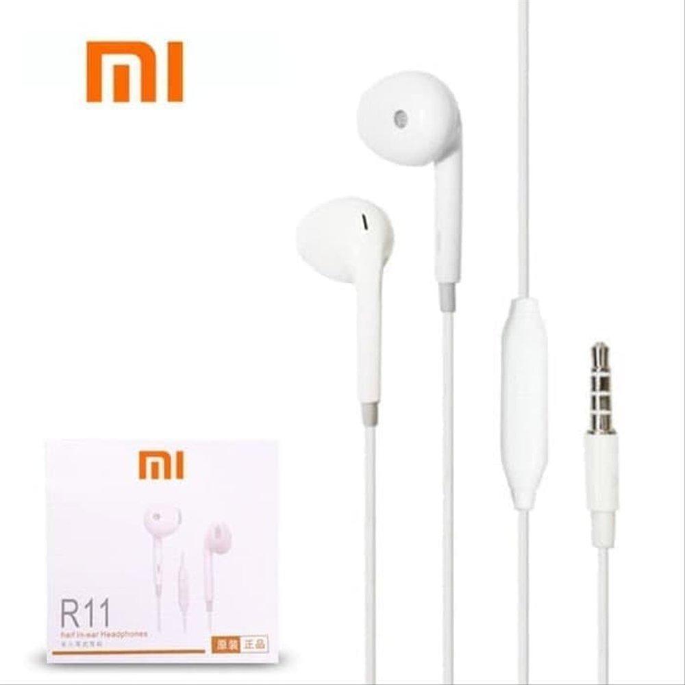 headset handsfree r11 xiaomi mi 5 – mi 6 high quality earphone – white