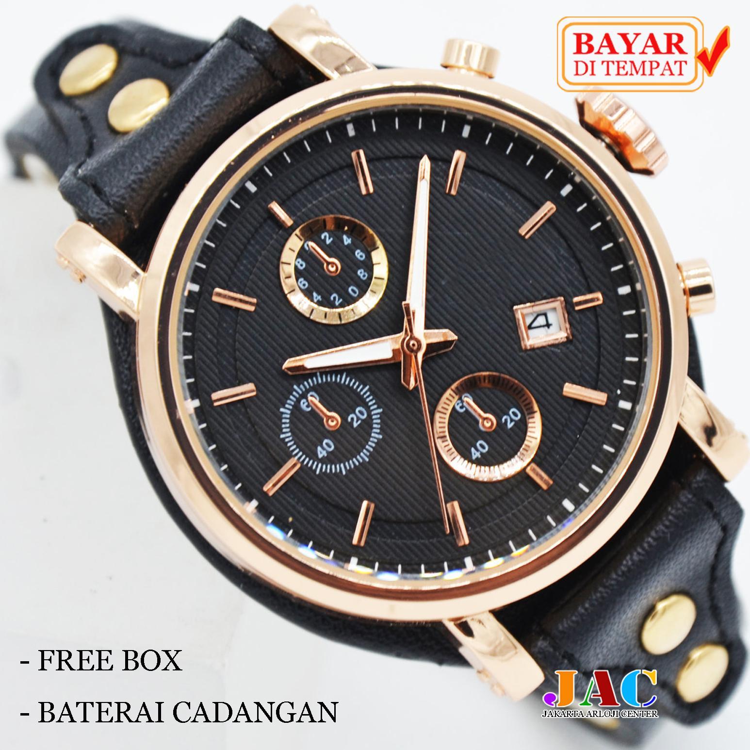 luxury watch – jam tangan wanita elegan – date active – original leather strap – jam tangan wanita  meriah – bisa bayar ditempat