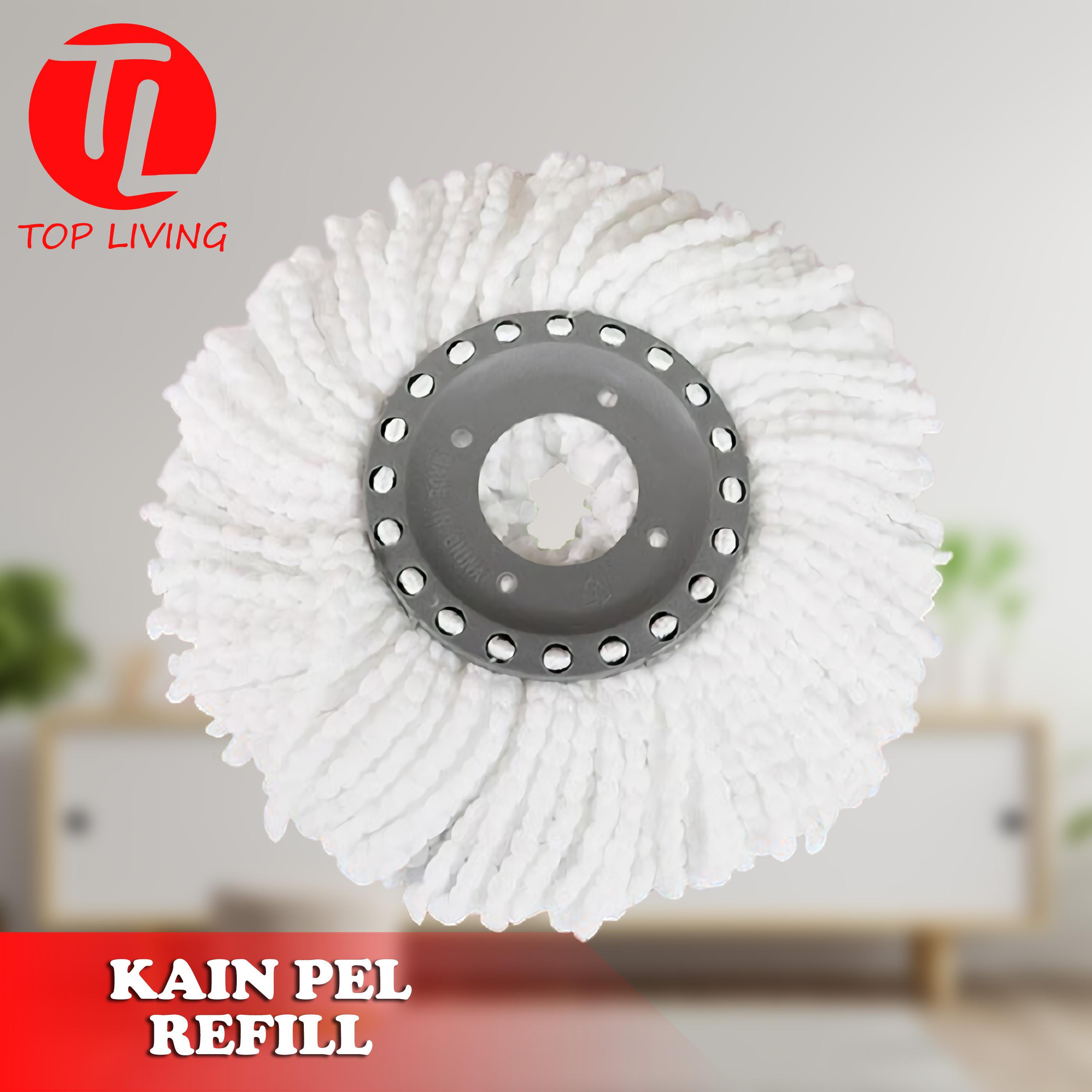 [top living] refill spin mop pel putar otomatis-ultra mop refill white 20101