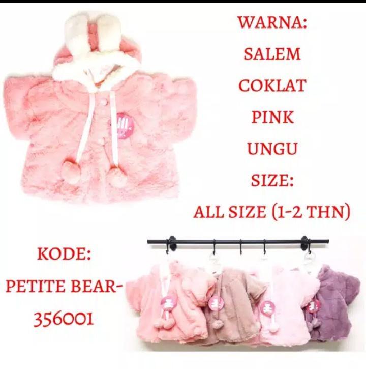 Detail Gambar Terbaru Termurah Jaket Bulu Import Anak Bayi Perempuan Pompom Hoodie Telinga - Zania Shop Terbaru